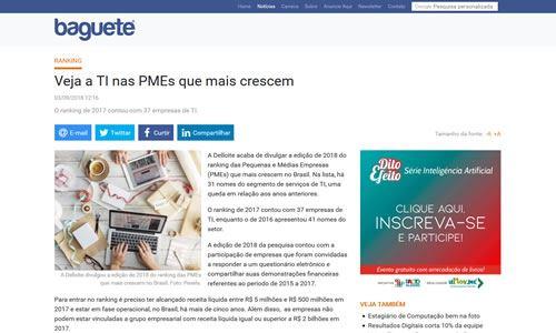 Clipping Baguete PMEs que mais crescem