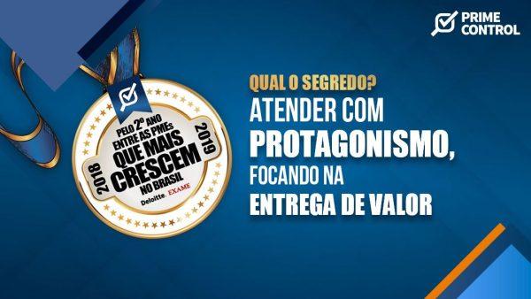 Pelo segundo ano, a Prime Control é uma das PMEs que mais crescem no Brasil
