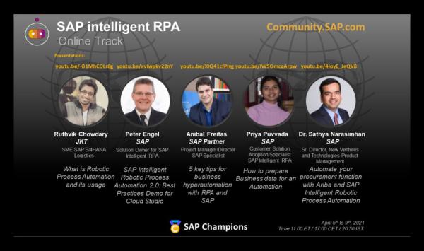 Prime Control participa de evento global da SAP sobre RPA